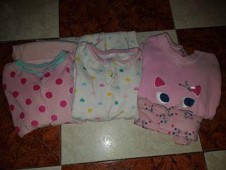 lote de tres pijamas niña talla 5/6 en buen estado