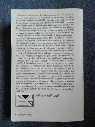 Libro «PRINCPIOS DE PSICOLOGÍA»