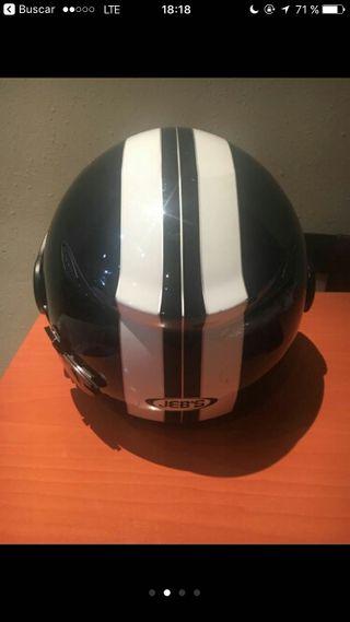 casco jeb's color negro y blanco