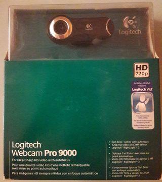 logitec webcam pro 9000 camara ordenador
