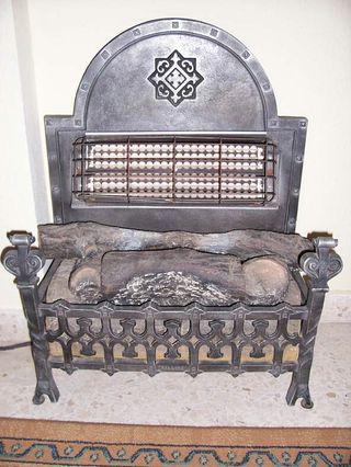 chimenea estufa eléctrica antigua