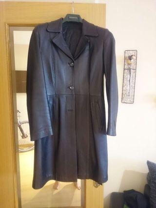 abrigo piel buena negro