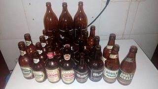 Botellas cerveza Mahou