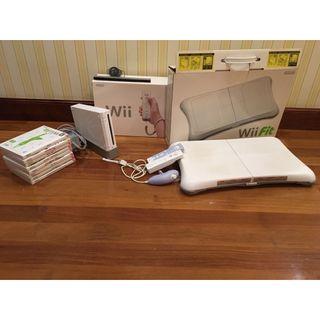 Pack de wii, tabla y juegos.