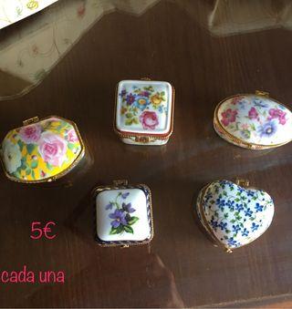 Cajitas de porcelana coleccion