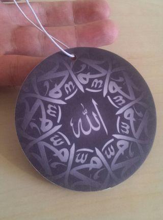 Islamic Allah Mohammed Car Air Freshener Hanging