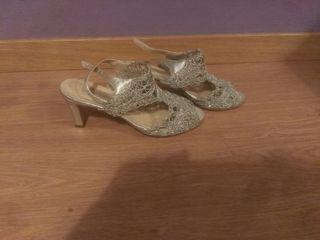 zapatos fiesta plata 38-39