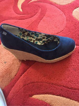 Zapatos cuña esparto sin uso