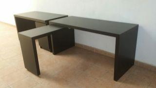 2 mesas negras de melamina 50€ cada una