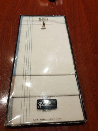 juego de pañuelos 100% algodon