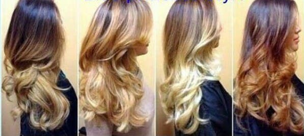 mechas balallages californianas colores
