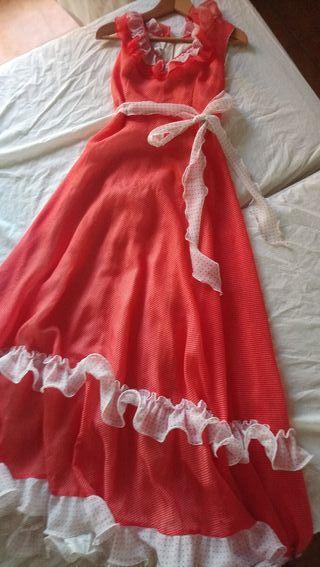 vestido de los 70 auténtico