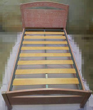 Estructura de cama con somier incluido