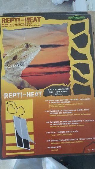manta calentadora reptiles