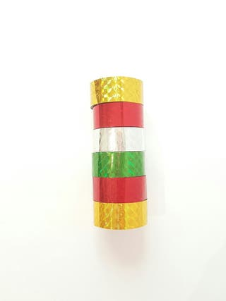 Pack 6 deco tape holograficos. Scrapbook