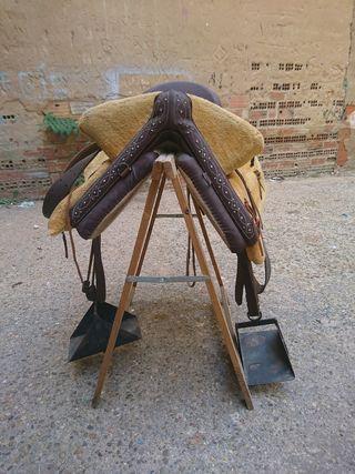 silla mixta de montar de fibra