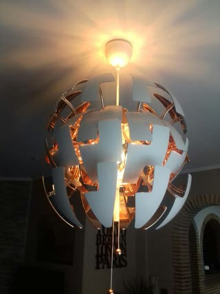 Lámpara techo nueva 50 de diametro cerrada.