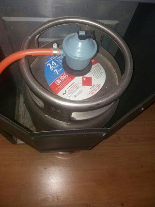 se venden estufas de gas llama azul