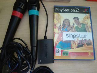 videojuego singstar latino play2 + microfonos