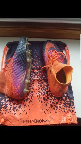 Botas de futbol + bolsa