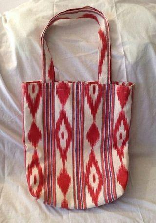 Bolso de tela de llengos fet a mà