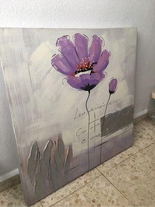 Cuadro flor lila