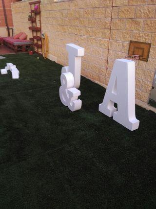 letras decoracion corcho