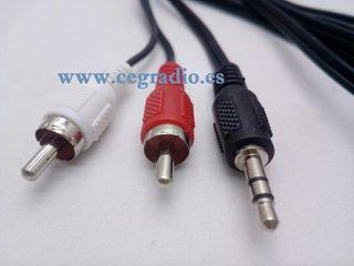 1.5m Cable Audio Jack Macho Estéreo a 2 RCA Macho