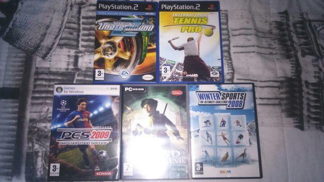 5 juegos(2 de ps2 y 3 de ordenador)