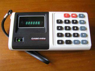 ANTIGUA CALCULADORA CASIO MINI CASIO-MINI CM-604 C