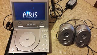 Reproductor DVD coche airis con altavoces