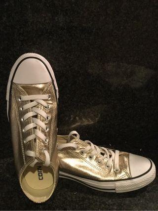 Converse all star doradas 38