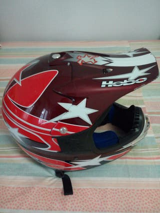 casco hebo con muy poco uso se vende por no usar