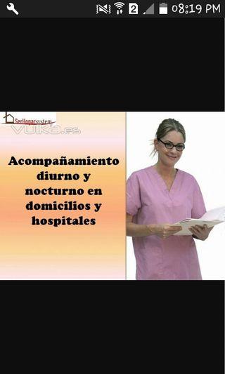cuido personas mayores y niños en hospitales