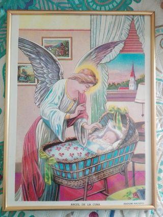 Cuadro Ángel habitación bebé