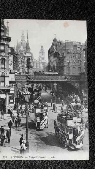 Postal antigua de Londres