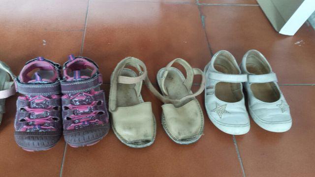 zapatos varios para niña