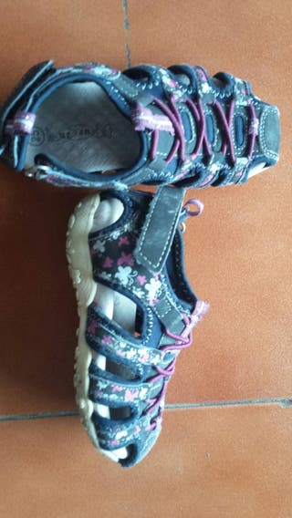 lote zapatillas sandalias niña 25.26