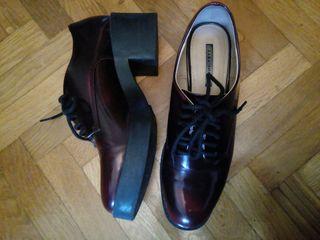 Zapatos cordones Zara n38. blucher con plataforma