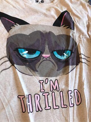 Camiseta larga grumpy cat