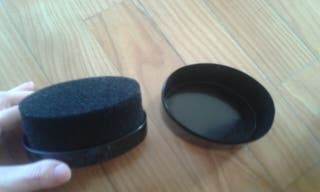 limpiador zapatos negros