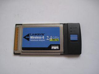 Tarjeta ordenador portatil pcmcia linksys