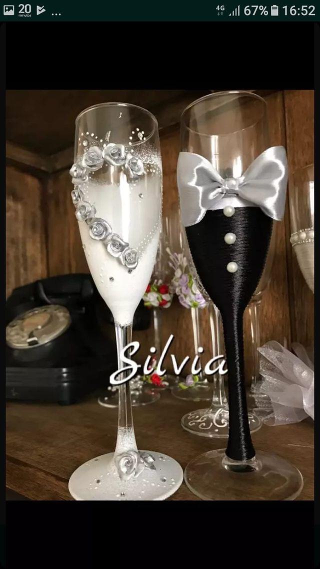 copas brindis vestido de novia celebraciones regalos originales vestido de boda copas decoradas. Black Bedroom Furniture Sets. Home Design Ideas