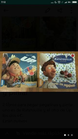 Libros con pegatinas y para pintar