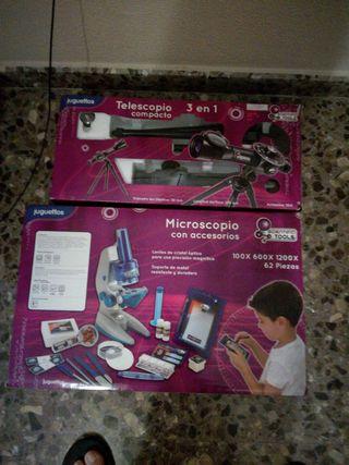 telescopio y microscopio con muy poco uso