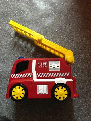 Dos Choches bomberos bebe juguete