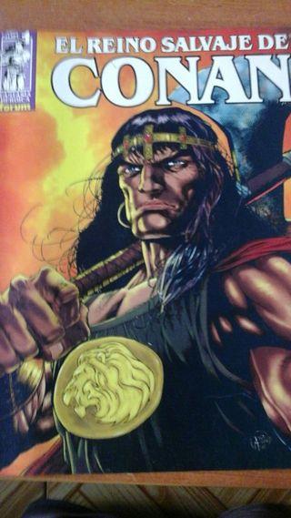 El Reino Salvaje de Conan + 8 novelas gráficas