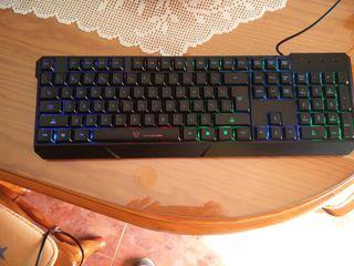 teclado luminoso