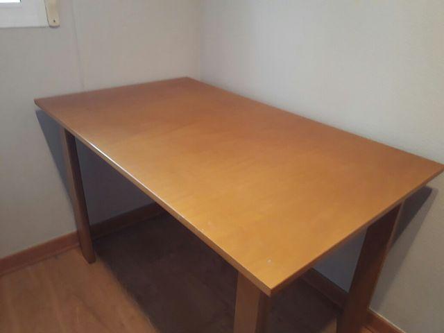Mesa cocina madera de segunda mano por 50 € en Almassera en WALLAPOP