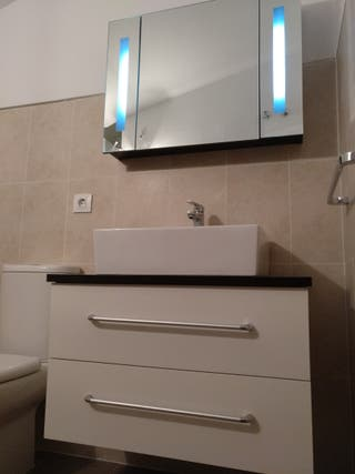 Mueble de baño 80cm + lavabo + armario/espejo